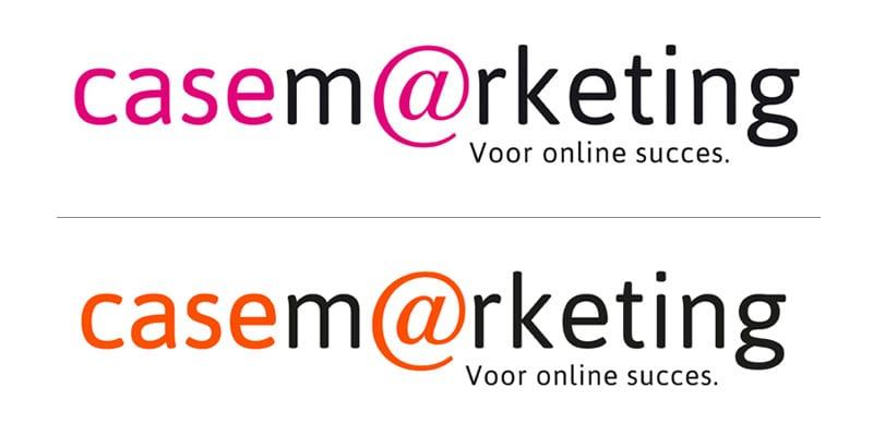 Logo van roze naar oranje