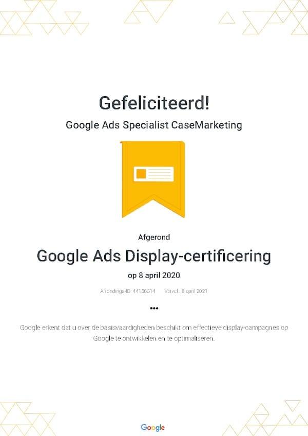 Google Partners Display Certificering