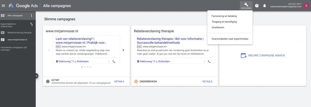 awords express omzetten zonder hulp van Google