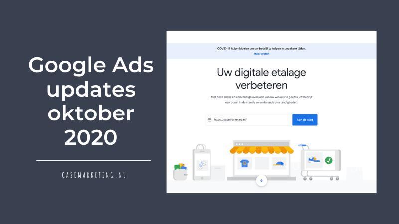 Google Ads updates oktober 2020