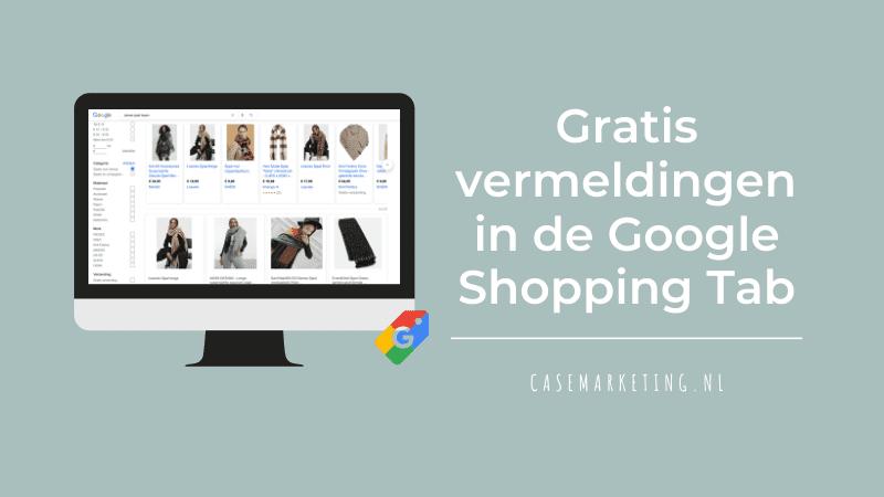 Gratis vermelding in Google Shopping