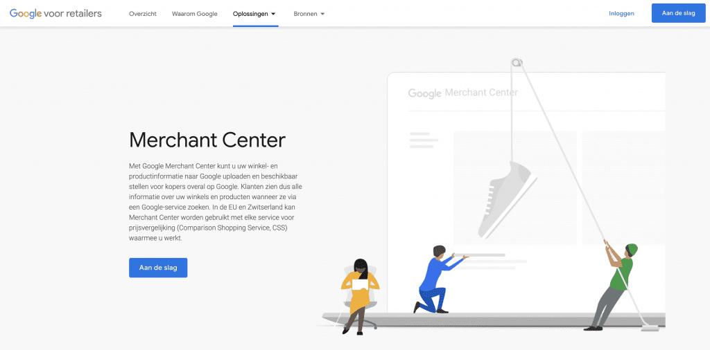 Merchant Center account aanmaken