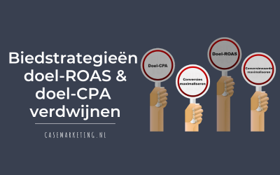 Biedstrategieën doel-ROAS en doel-CPA verdwijnen