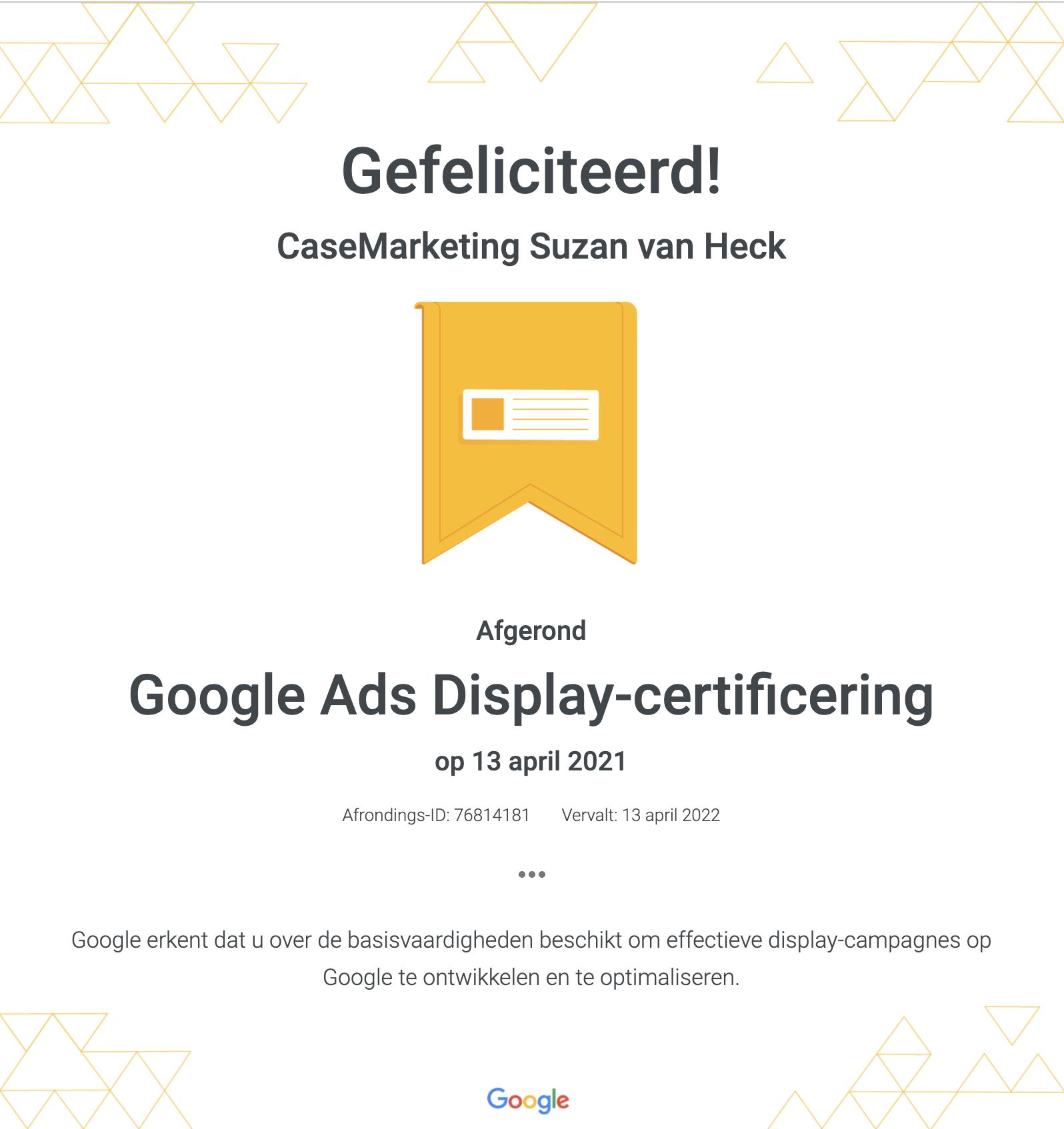 Google Ads Display certificering