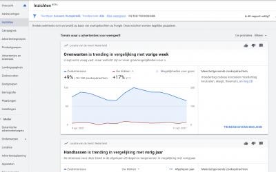 Blijf op de hoogte van Google trends met de pagina 'Inzichten'