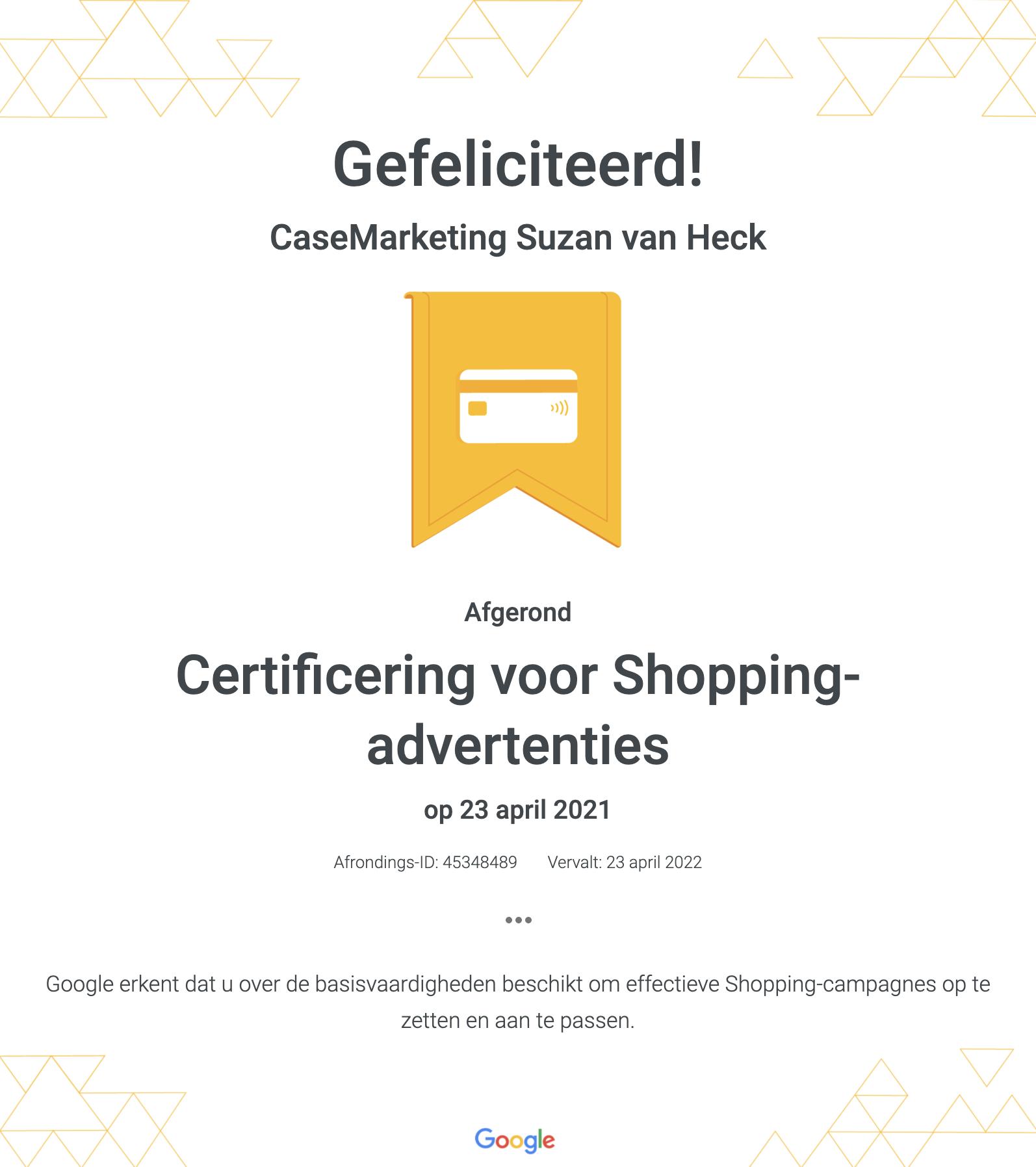 Google Ads Shopping certificering