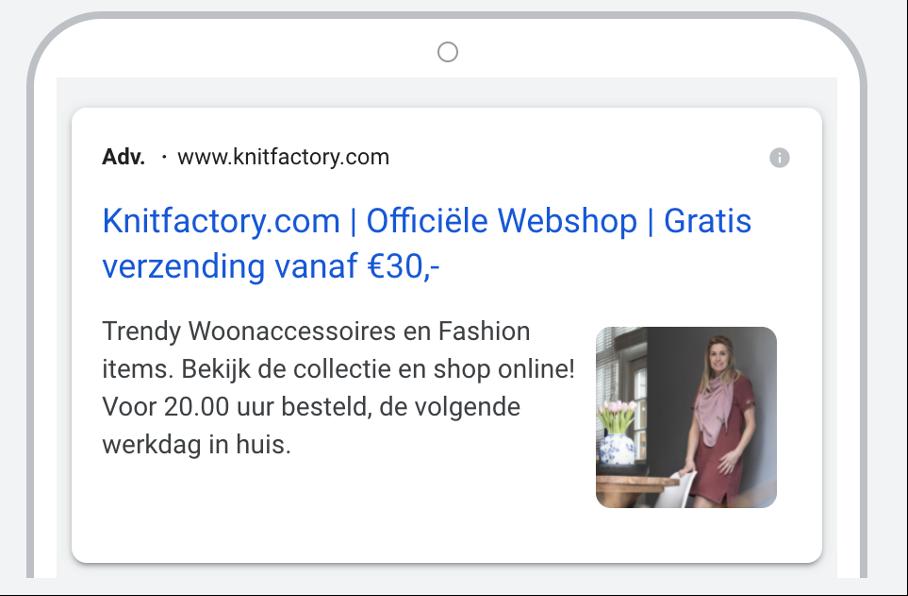 Beeldextensie voorbeeld Knit Factory