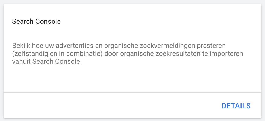 Search Console en Google Ads koppelen