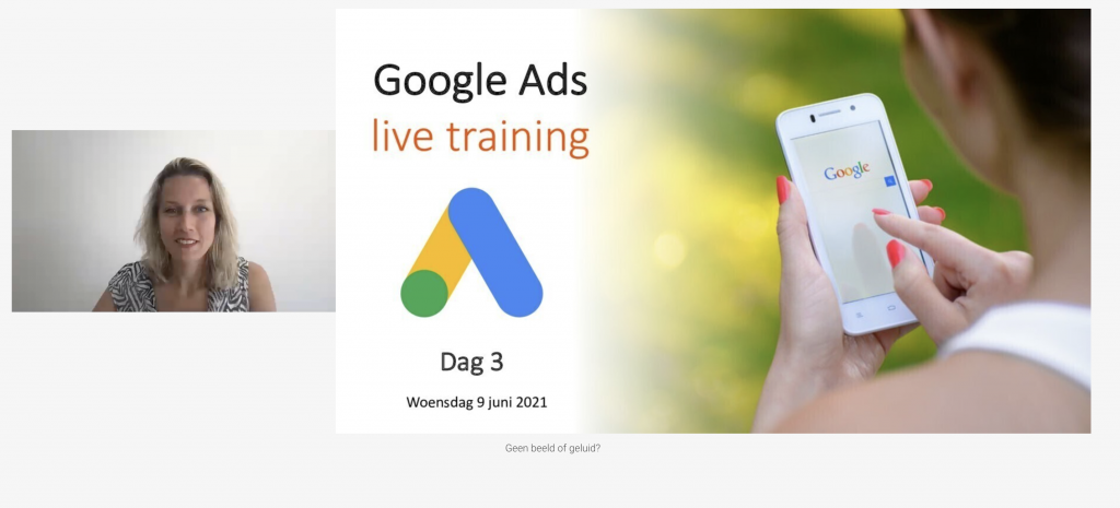 Google Ads live training dag 3